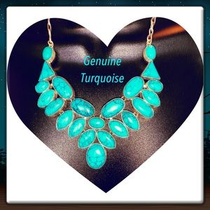 NOT AVAILABLE Genuine Turquoise & 925 Silver Neck